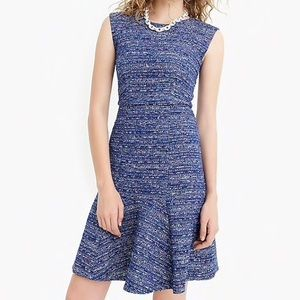 NWT J Crew A-line dress in multicolor cobalt tweed